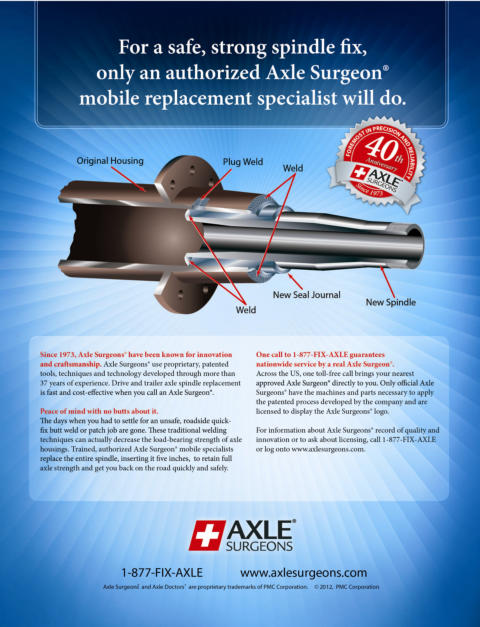 For a safe and strong spindle fix, only an authorized Axle Surgeon mobile replacement specialist will do
